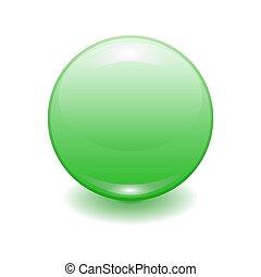 realistic green plastic button