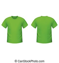 Realistic green t-shirt on a white background