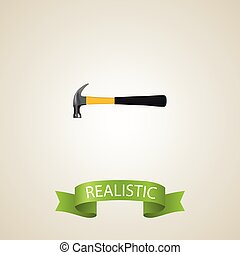 Realistic Hammer Element. Vector Illustration Of Realistic Claw Isolated On Clean Background. Can Be Used As Claw, Hammer And Tool Symbols.