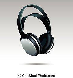 Realistic Headphones illustration