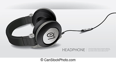 Realistic Headphones Isolated Vector Illustration