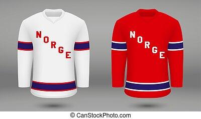 Realistic hockey kit team