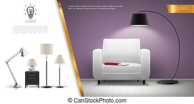 Realistic Home Lighting Equipment Concept - Realistic home ...