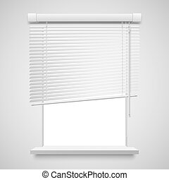 home related blinds - Realistic home related blinds vector...