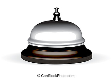 realistic hotel bell. Bitmap version - old hotel bell on a...