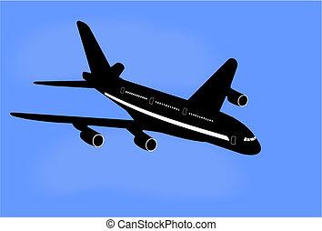 Realistic illustration aircraft