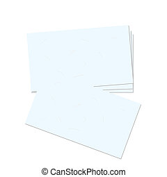 Realistic illustration business card
