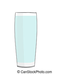 Realistic illustration glass with water - vector