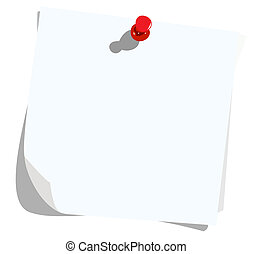 Realistic illustration note pad - vector