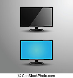 Realistic illustration of a monitor
