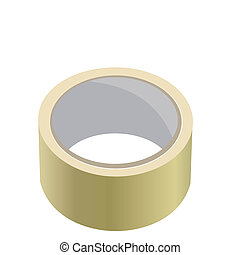 Realistic illustration of adhesive tape. Vector