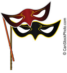 Realistic illustration of carnivals mask - vector