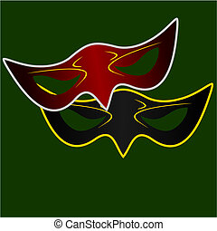 Realistic illustration of carnivals mask