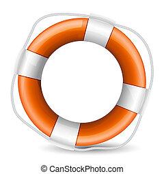 realistic illustration of life buoy