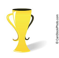 Realistic illustration of prize gold cup