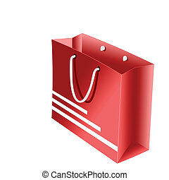 Realistic illustration of red packet for shopping
