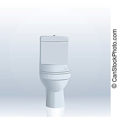 Realistic illustration of toilet bowl - vector