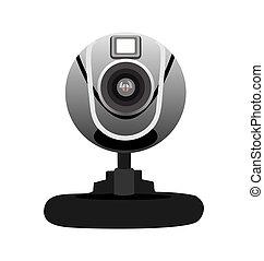 Realistic illustration of web camera
