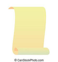 Realistic illustration roll for manuscript