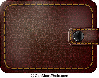Realistic image of a leather purse