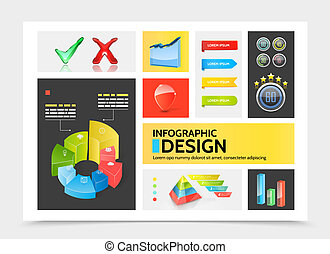 Realistic Infographic Elements Colorful Concept
