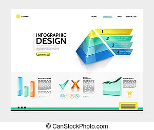 Realistic Infographic Landing Page Concept
