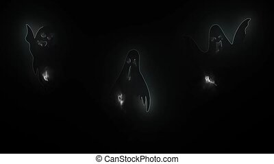 realistic isolated neon sign of Ghost video