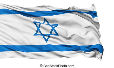 Realistic Israel flag in the wind