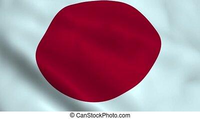Realistic Japan flag