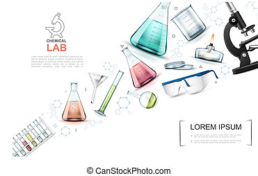 Realistic Laboratory Research Elements Template