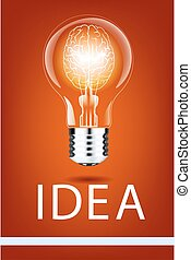 realistic lamp with a bright light on an isolated background. Vector illustration . Addison's electric lamp
