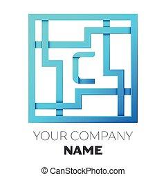 Maze Letter C Maze In The Shape Of Capital Letter C Worksheet For