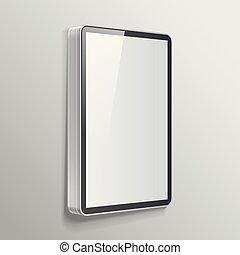 Realistic light box template - Realistic vector light box...