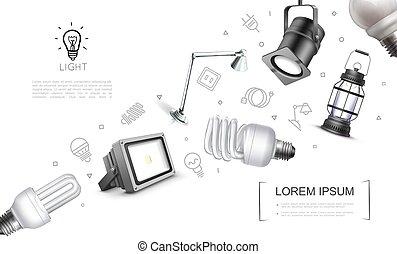 Realistic Lighting Equipment Concept - Realistic lighting ...