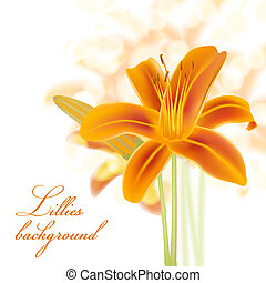 realistic lillies background
