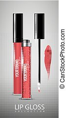 Realistic Lip Glosses Collection