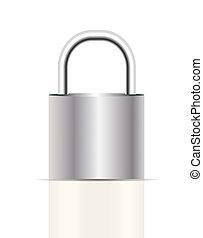 Realistic Lock Sign Vector Illustration