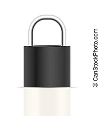 Realistic Lock Sign Vector Illustration