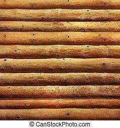 realistic log cabin wood wall photo real house