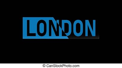 realistic logo london 4k resolution with shine effect.