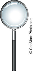magnifying glass - realistic magnifying glass