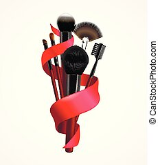 Realistic Make Up Brushes Composition - Realistic make up ...