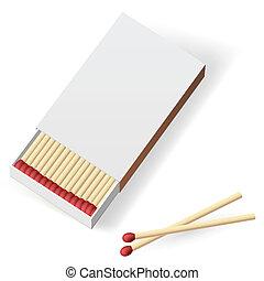 Realistic matchbox. Illustration on white background