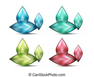 Realistic matte glass abstract icon for message. Price label...