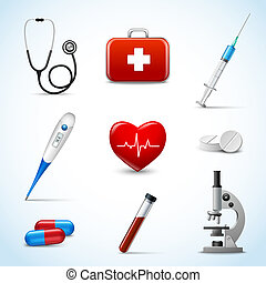 Realistic Medical Icons - Realistic 3d medical emergency...