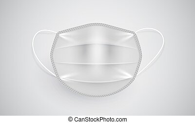 Realistic medical mask on a white background, vector illustration