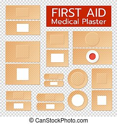 Realistic Medical Plasters Set