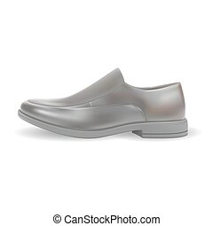 realistic men shoes isolated vector illustration