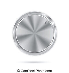 metal button with circular processing