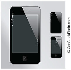 Realistic mobile phone with blank screen Iphone